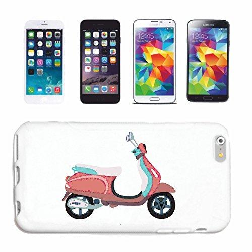 """cas de téléphone iPhone 7+ Plus """"SCOOTER RETRO RACE RACING FORMULA MOTOR SPEEDWAY ÉQUIPE SPEED CLASSIC AMERICAN"""" Hard Case Cover Téléphone Covers Smart Cover pour Apple iPhone en blanc"""