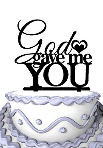 (Meijiafei God Gave Me You Rustic Wedding Cake Topper)
