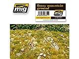 AMMO MIG-8351 Stony Mountain Ground Grass Mats, Multicolour