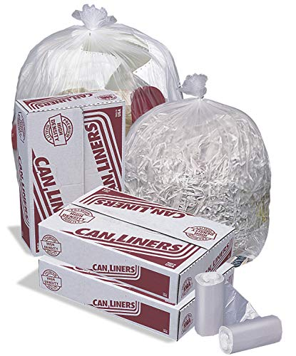 - Pitt Plastics High-Density Mini-Roll Can Liners, 12-16 gal, 6 mic, 24 x 33, Natural Color - Includes 1000 bags.