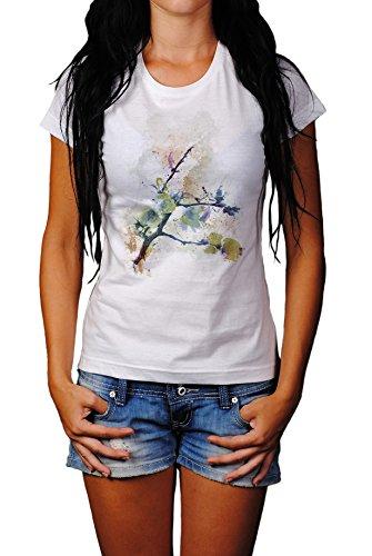 Zweig Lady T- Shirt , Stylisch aus Paul Sinus Aquarell Old Style