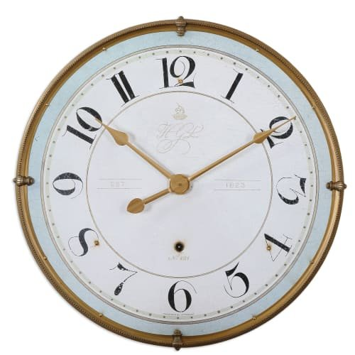 Uttermost 06091 Torriana Wall Clock (Hudson Metal Clock)