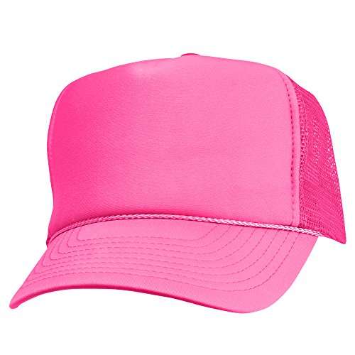 hot pink polo baseball cap suede leather trucker adjustable neon
