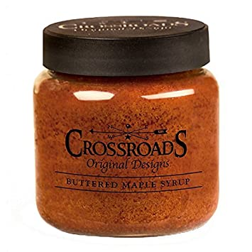 CWI Gifts Crossroads Candle 16 oz Jar-Buttered Maple Syrup G10240