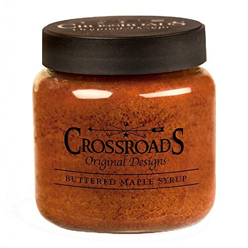 Crossroads Candle 16 Ounce Jar Candle - Buttered Maple Syrup -