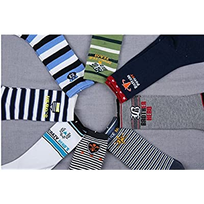 FANTASIEN 8 Pairs Boy's Knee High Cotton Socks fit for 4-8 Years Old : Baby