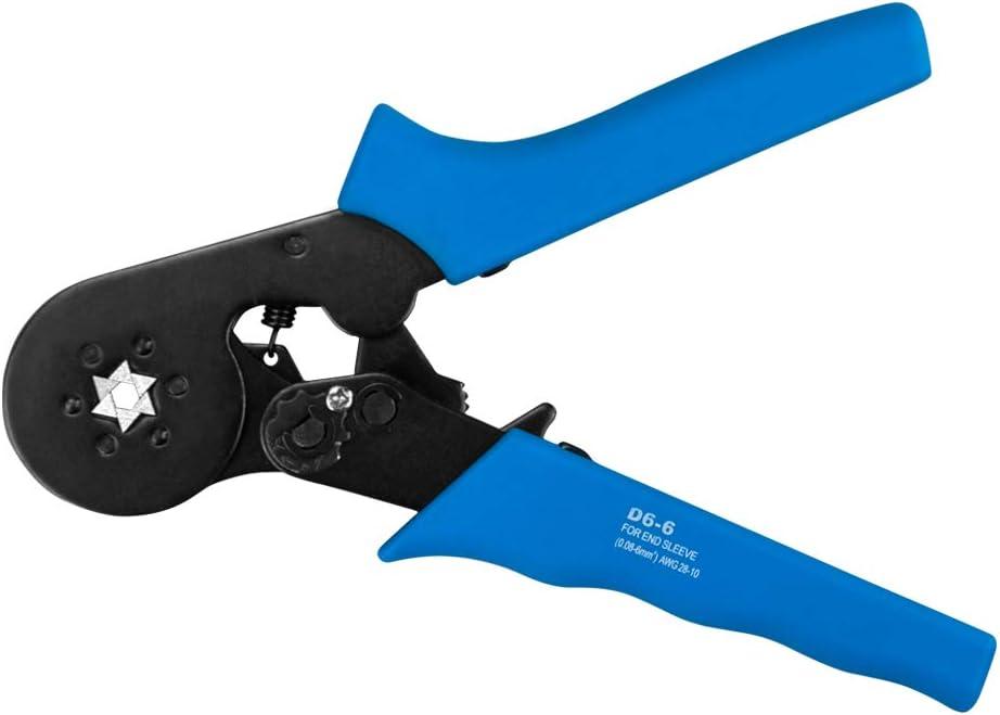 Aderendh/ülsen-Crimpzange AWG 23-7 Dechengbao HSC8 6-4 Crimpzange Verstellbare Crimpzangen F/ür Kabelendh/ülsen mit 0,25-10 mm2 Aderendh/ülsen-Crimpzange