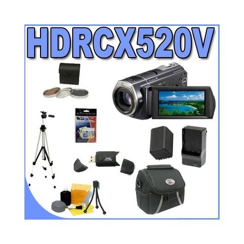 Sony HDR-CX520V 64GB Flash High Definition Camcorder (Black) BigVALUEInc Accessory Saver FH100 Replacement Battery/Rapid External Charger Bundle