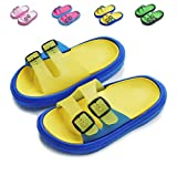 Yiomxhi Toddler Little Kids Walking Slippers Summer Sandals Non-Slip Shower Shoes Lightweight Beach Slippers for Boys and Girls (Little Kids 9.5-10.5M, Yellow)