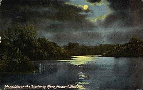 Amazon.com: Moonlight on the Sandusky River Fremont, Ohio Original Vintage Postcard: Entertainment Collectibles