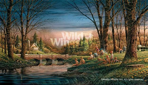 Spring Fishing by Terry Redlin Master Canvas Limited Edition Print of 1950 Signed & Numbered