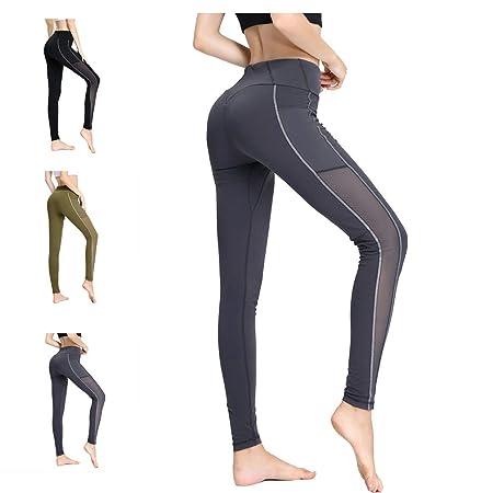 HESANA Pantalones Deportivos de Yoga para Mujer, Polainas ...