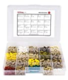 Monthly Pill Organizer with Large Compartments & Stay Tight Lid *FREE Emergency Contact Sticker and Medication Map Included!