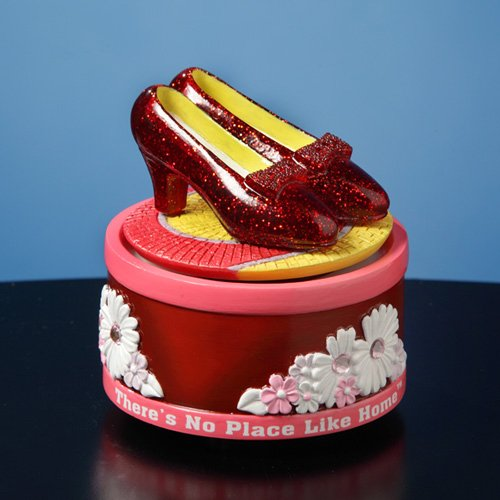 The Wizard of Oz Ruby Slippers Rotating Mini (San Francisco Music Box)