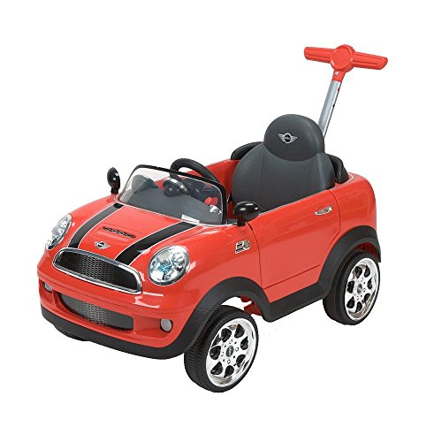 Red Avigo Mini Cooper Foot to Floor Ride-On Car Toy