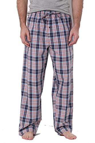 - CYZ Men's 100% Cotton Poplin Pajama Lounge Sleep Pant-P17003-M