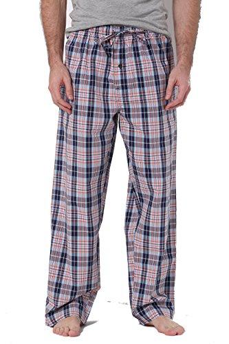CYZ Men's 100% Cotton Poplin Pajama Lounge Sleep ()