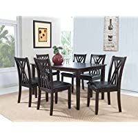 Powell 358-730A 7 Piece Master Table & Chairs, Espresso