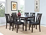 Cheap Powell 358-730A 7 Piece Master Table & Chairs, Espresso