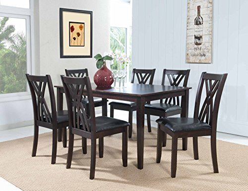 Powell Dining Table Set (Powell 358-730A 7 Piece Master Table & Chairs, Espresso)