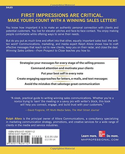 Winning Sales Letters From Prospect To Close Ralph Allora