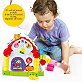 TOYK Kids toys Musical Colorful Baby Fun House,Electronic Geometric Blocks Learning Educational Toys, Many Kinds Of Music - girls boys toddlers and baby toys