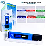 Digital pH Meter | ONE DAY SUPER SALE | Pocket Size water quality tester | NO STRIPS & CHEMICALS | BONUS X6 ph buffer powder packs | Electronic Liquid Quality Tester for Aquarium, Pool, Hydroponics