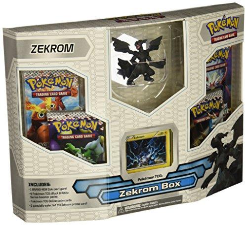 Pokemon Black White Card Game ZEKROM Box 4 Booster Packs,