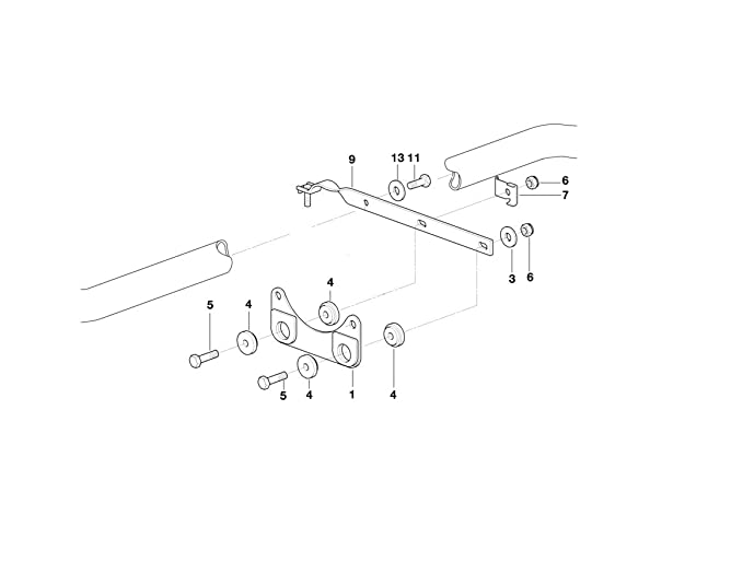 BMW Z3 /& E36 Exhaust Support GENUINE 18301432596