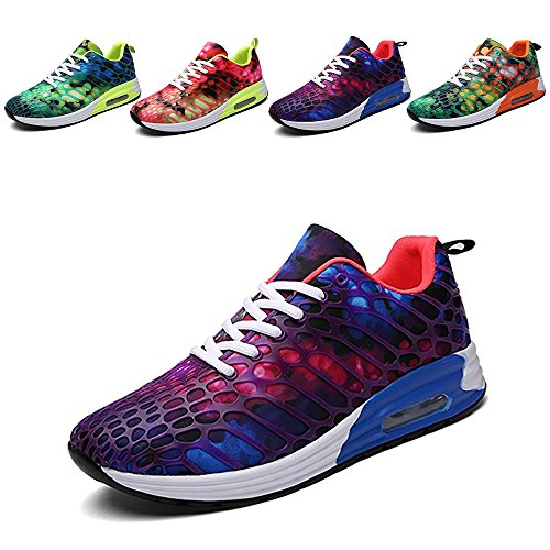 Wonvatu Women Men Breathable Fashion Running Shoes Comfortable Lightweight Athletic Walking Sneakers