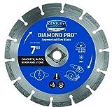 Century Drill and Tool 75455 Professional Segmented Rim Diamond Saw Blade, 7-Inch