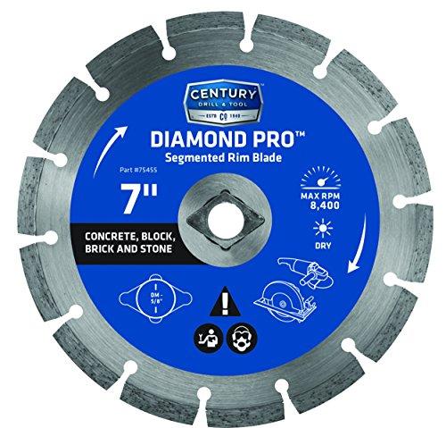 (Century Drill and Tool 75455 Professional Segmented Rim Diamond Saw Blade, 7-Inch)