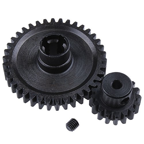 Hobbypark 1 Set Metal Diff Main Gear 38T & Motor Gear 17T for RC 1/18 WLtoys A949 A959 A949 A959 A969 A979 RC Car Buggy Upgrade Parts