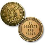 Saint Michael To Protect Bronze Antique Challenge Coin