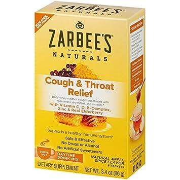 Amazon Com Zarbee S Naturals Cough Throat Relief Daytime Drink