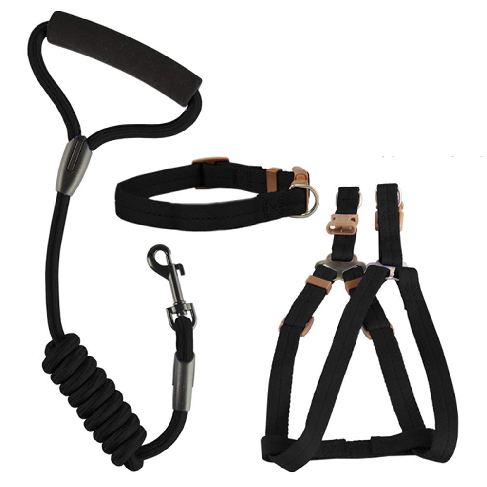 Black X-Small Black X-Small Dog Safety Vest Harness, Pet Dog Adjustable Harness with Walking Lead Leash Chest Strap Durable Comfortable