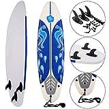 Costway 6FT/182CM Soft Surfboard Beginner Foam Surfing Board Long Top Surf Kids/Adults
