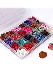 Wax Seal Stamp Kit, Yuccer 672 Pcs Octagon Sealing Wax Beads for Wax Seal, Sealing Envelopes, Wedding Invitation, Crafts and Decoration(24 Colors)
