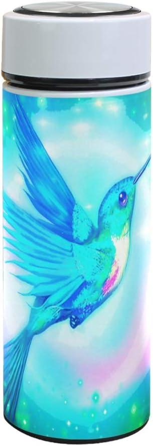 XiangHeFu Thermos Hummingbird Elf Coffee Leak Proof Stainless Steel Travel Mug Water Bottle Keep Cold or Hot