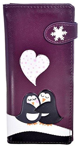 (Shag Wear Women's Animal Inspired Large Wallet Love Penguin)