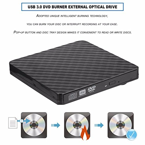 TJ8 External CD Drive-USB 3.0 Portable Slim CD DVD +/-RW Drive Writer/Rewriter/Burner,High Speed Date Transfer for WIN7/8/10/Linux/Mac OS Macbook Laptop Desktop Notebook by TJ8 (Image #3)