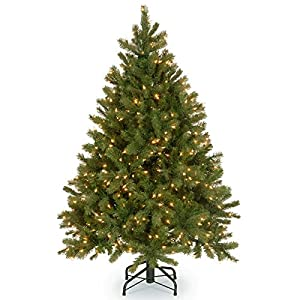 National Tree Feel-Real Down Swept Douglas Fir Hinged Tree with 600 Clear Lights 21