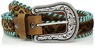 ARIAT Women's Cheeta Turquoise Whip Lace Belt
