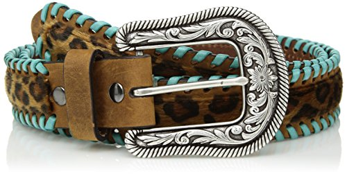 - Ariat Women's Cheeta Turquoise Whip Lace Belt, Brown, Medium