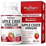 Health & Personal Care : Apple Cider Vinegar Capsules for Weight Loss (Award Winning Capsimax Formula), Fat Burners for Women & Men, Appetite Suppressant, Metabolism Booster, Organic, Non-GMO, 60 Pills