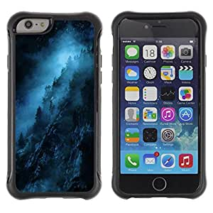 Suave TPU GEL Carcasa Funda Silicona Blando Estuche Caso de protección (para) Apple Iphone 6 / CECELL Phone case / / Blue Night Black Mysterious Dark /