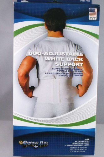 (Sportaid Back Belt, White, 9 Inches, Medium,Large - 1 Each by Scott Specialties)