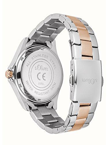 s.Oliver Time Damen Quarz Uhr mit Edelstahl Armband 2