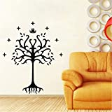Wall Sticker Wallstickers Tree of Gondor Vinyl Decal Sticker from Lord of The Rings for Car Window Laptop Motorcycle Walls Mirror and More,Finished Size 19X23In(50X60Cm)