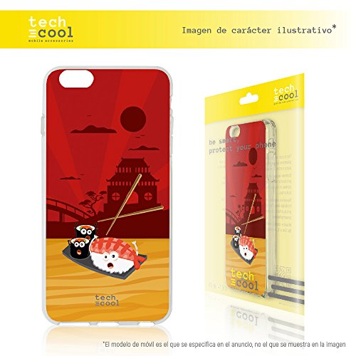 Iphone 6 / 6S Coque, Techcool® Housse premium Souple TPU Silicone pour Iphone 6 / 6S l [Design exclusif, Impression haute définition] [couleurs très vives] [Ultra Mince 1,5mm] [Antichoc] [Coque Souple